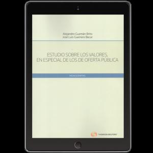 ESTUDIOS SOBRE LOS VALORES, EN ESPECIAL DE LOS DE OFERTA PÚBLICA (Solo Digital)
